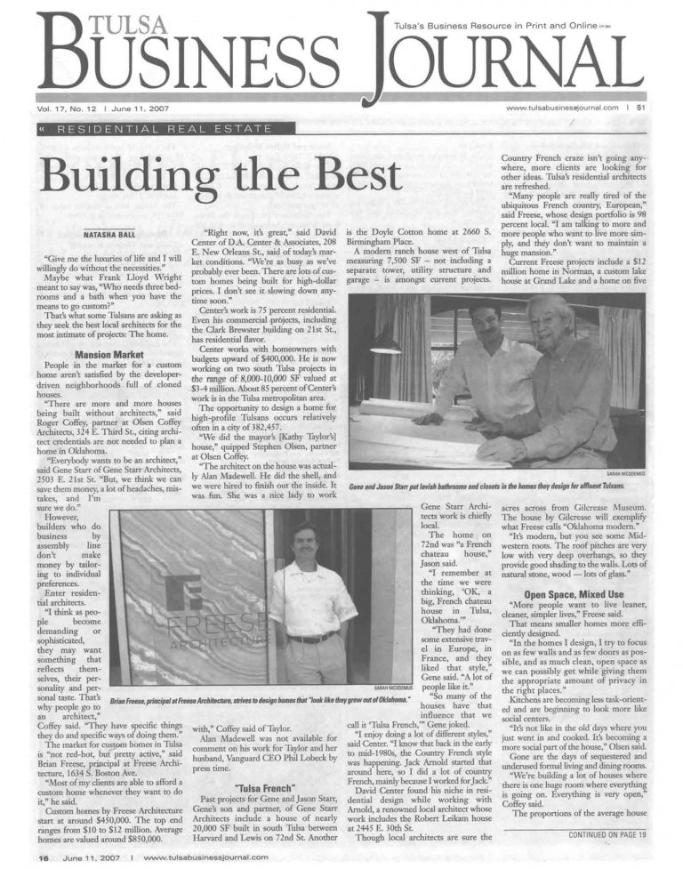 Tulsa Business Journal: Building the Best