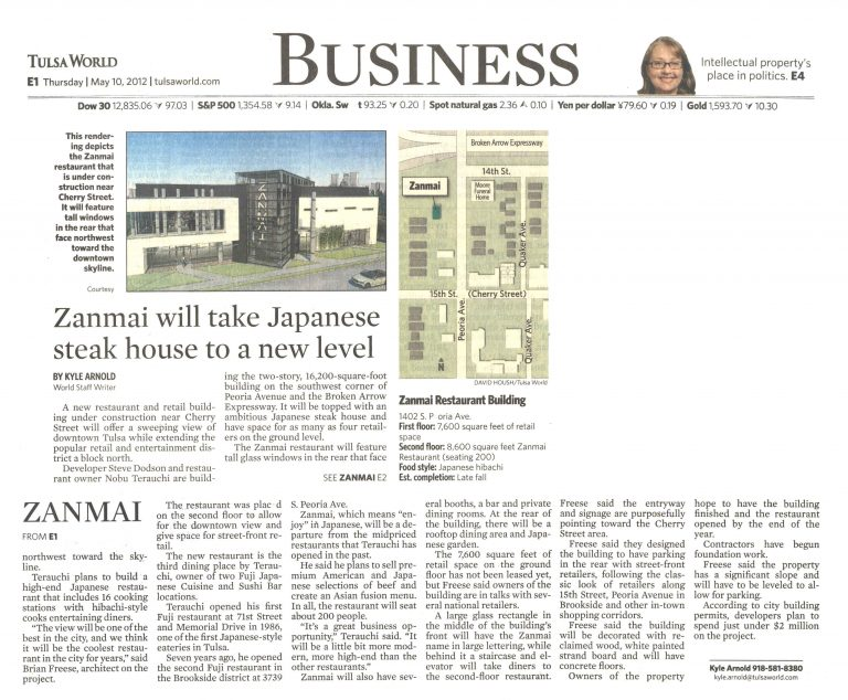 Tulsa World/Business: Zanmai will take Japanese steak house to a new level