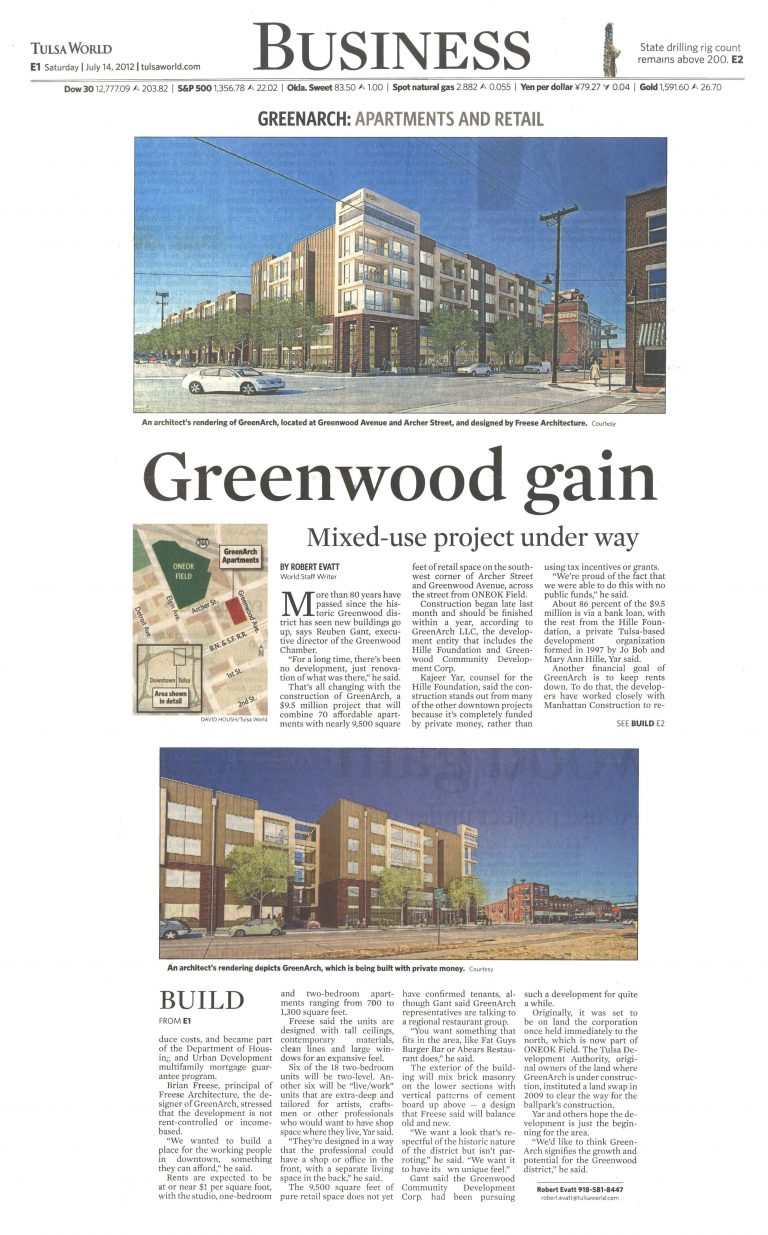 Tulsa World/Business: Greenwood gain